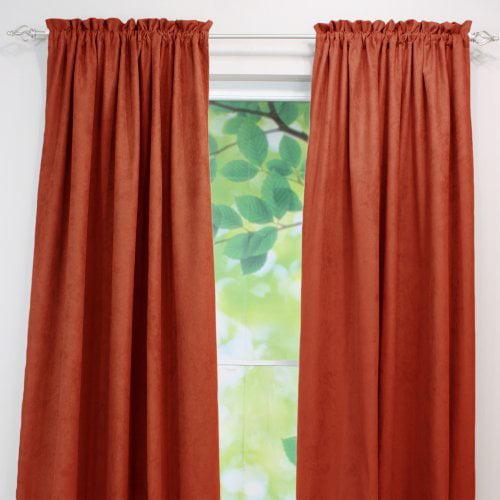 Brite Ideas Living Passion Suede Rod Pocket Curtain Panel