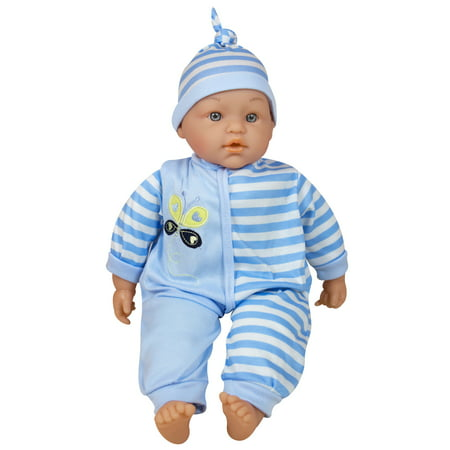 Lissi Dolls - Talking Baby 15 Inches, Blue