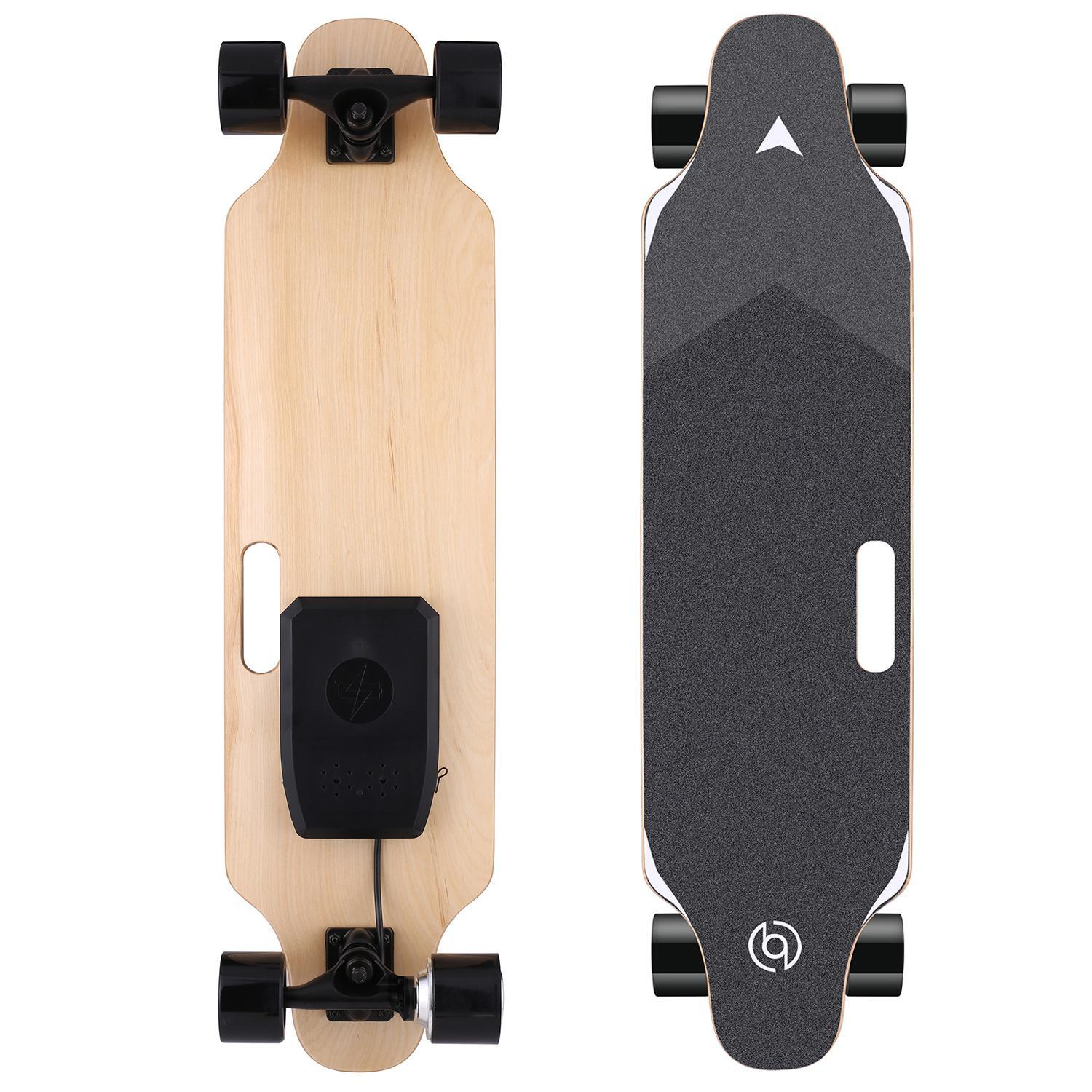 20Km//h Top Speed OppsDecor Electric Skateboard with Wireless Remote Control 10 Miles Range 7 Layers Maple Longboard US Stock