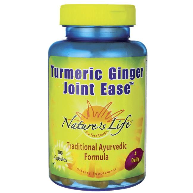 Natures Life - Turmeric & Ginger Joint Ease, Capsule (Btl-Plastic) 100ct
