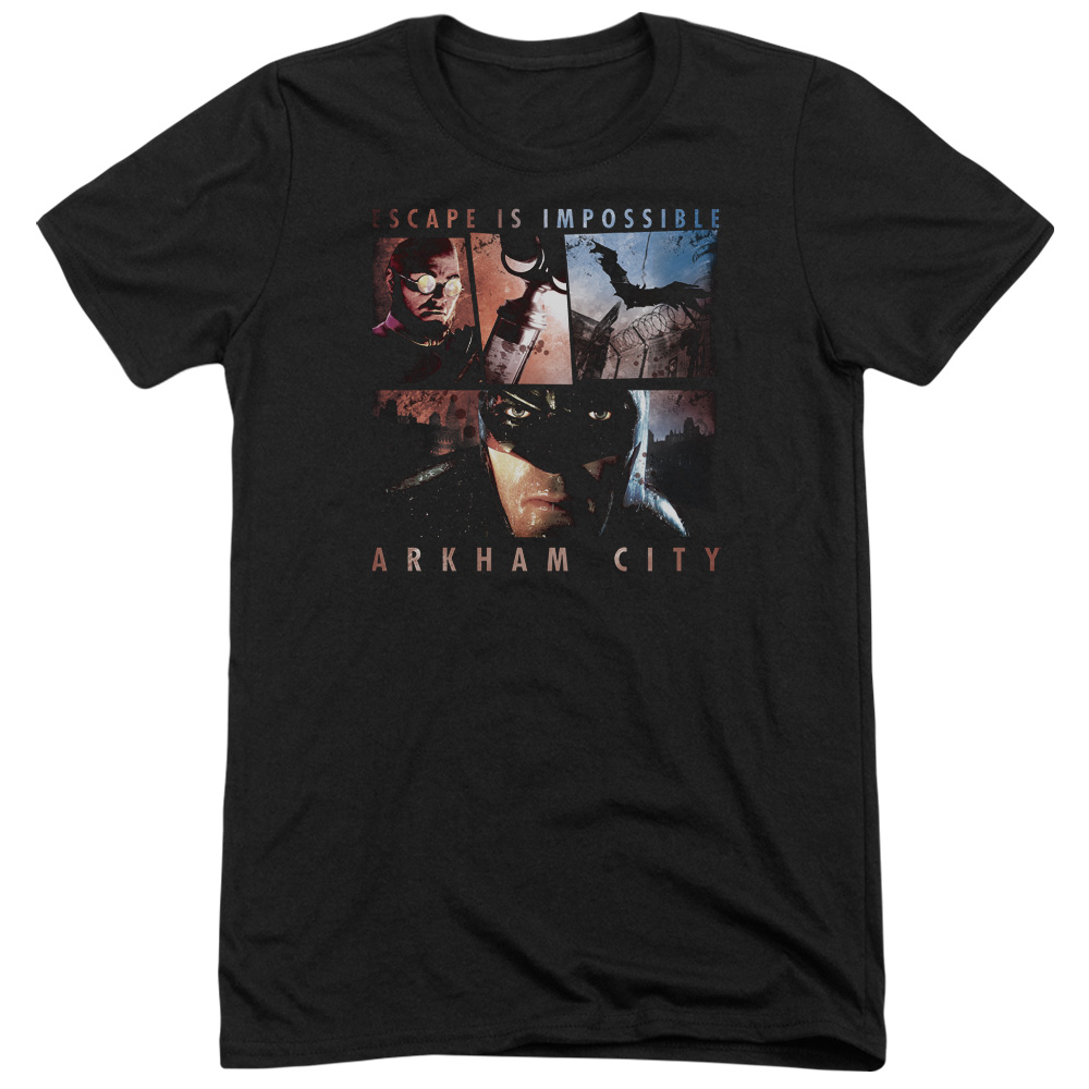 Arkham City Escape Is Impossible Mens Tri-Blend Short Sleeve Shirt