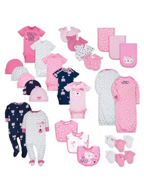 138b68ce7 Product Image Gerber Layette Essentials Baby Shower Gift Set, 30pc (Baby  Girls)