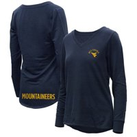 West Virginia Mountaineers Women's Belle Relaxed Tri-Blend V-Neck Pullover Sweatshirt - Navy