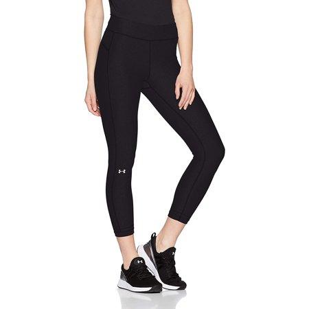 Under Armour Women's HeatGear Armour Ankle Crop Leggings, Black (001)/Metallic Silver, Medium ()