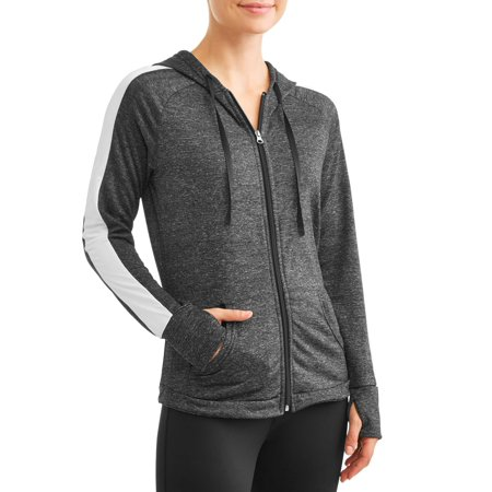 Women's Active Performance Micro Tech Fleece Zip Up Hoodie