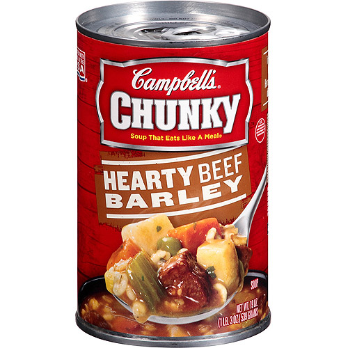 Campbell's Chunky Hearty Beef Barley Soup, 19oz
