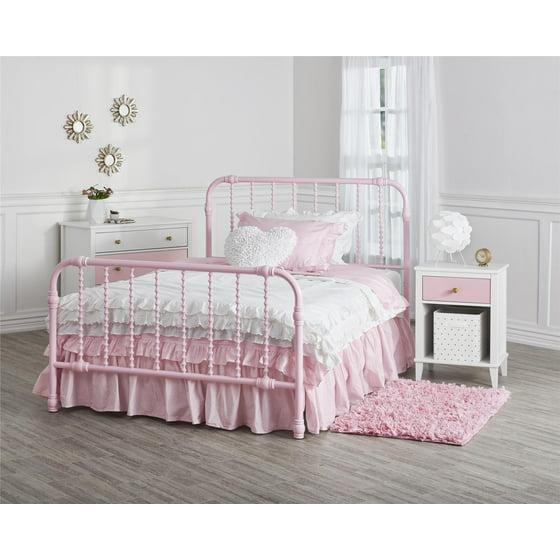 Little Seeds Monarch Hill Wren Metal Bed Full, Pink - Walmart.com