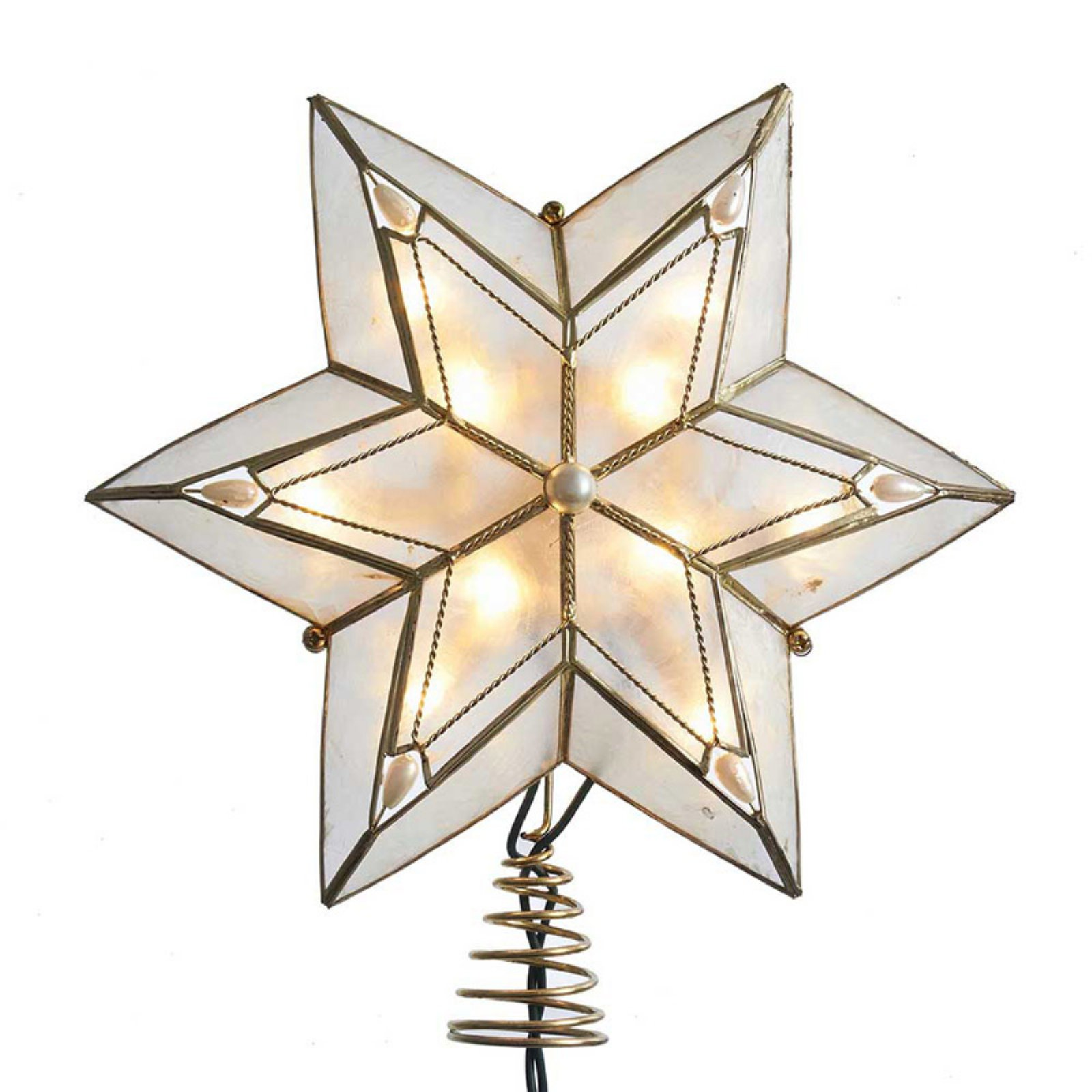Kurt S. Adler 10-Light Capiz Star Treetop