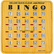 MR CHIPS Jam Proof Quick Clear Bingo Cards with Sliding Windows - 10 Cards