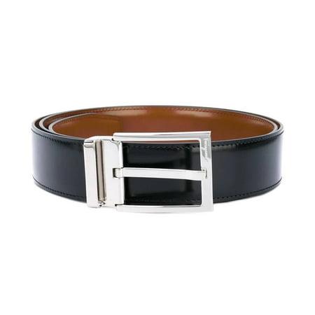 Salvatore Ferragamo Men's Reversible And Adjustable Belt With Rectangular Buckle
