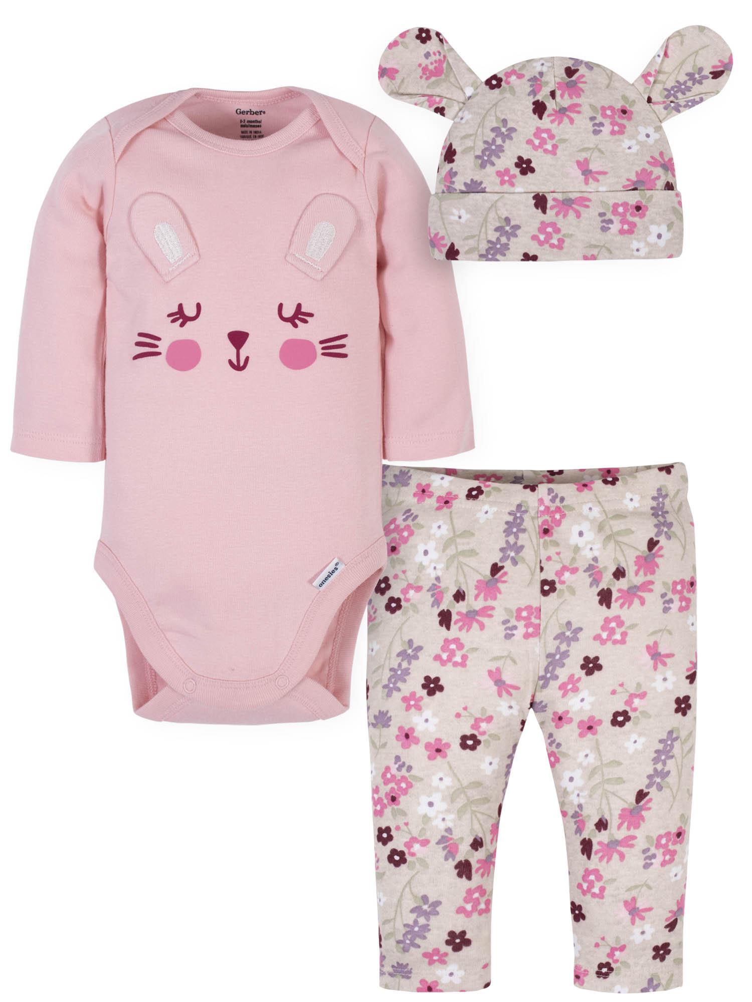 Carter/'s Baby Girl Clothes SPRING BUNNIES 3 Piece Sets 3//9//12//24MOS 159A