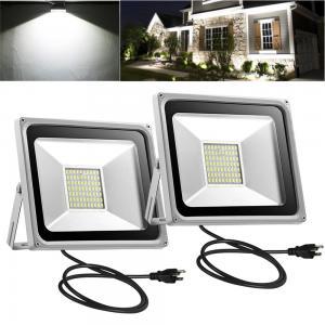 2pcs 50W LED Flood Light Cool White with US Plug 110V