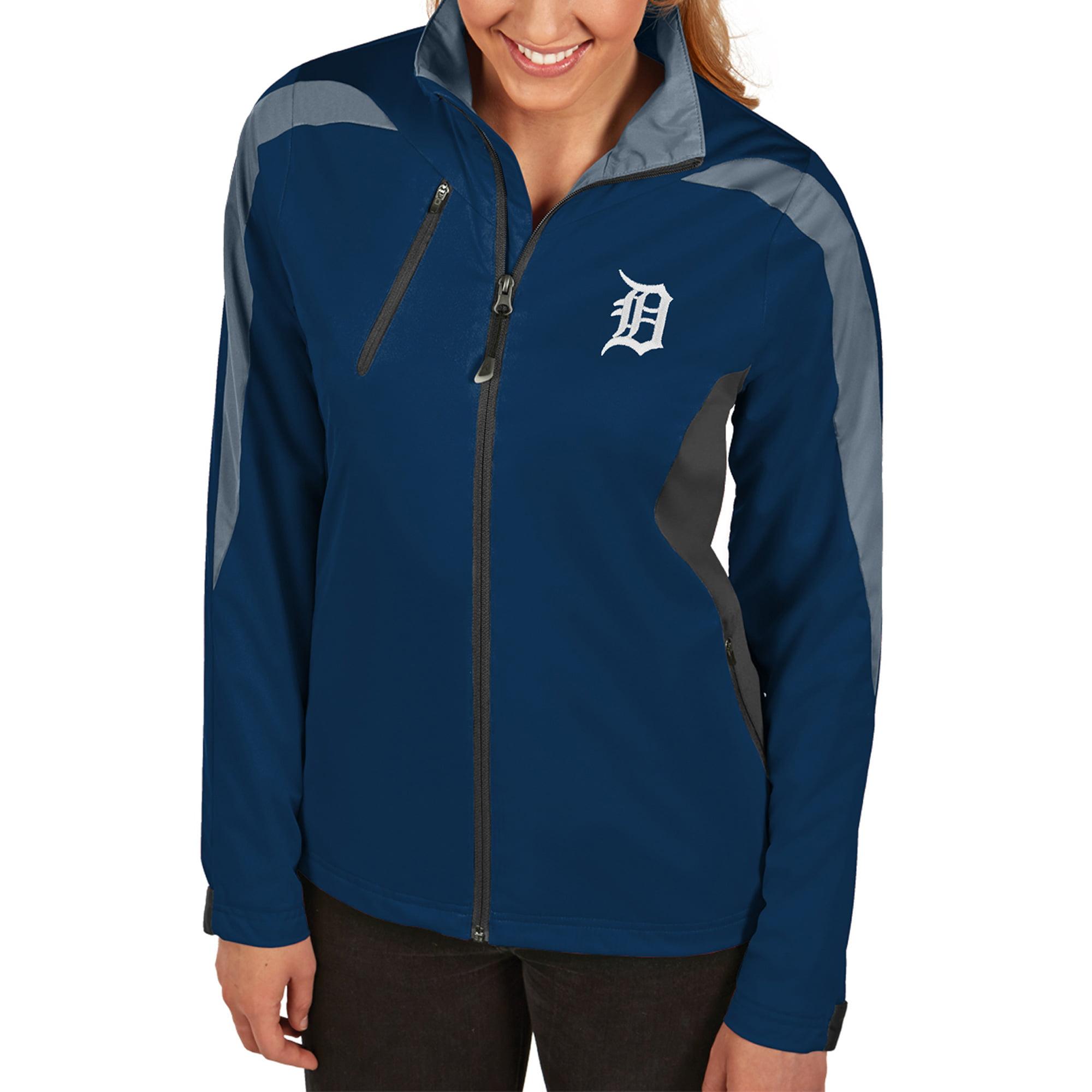Detroit Tigers Antigua Women's Discover Full-Zip Jacket - Navy