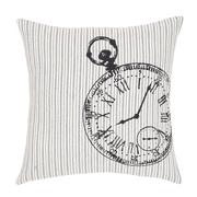 Ashmont Clock Fabric Pillow Cover 16x16