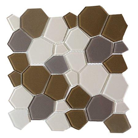 EKBInnovations Upscale Designs 11.5-inch Glass Mesh-Mounted Mosaic Wall Tile (6 sheets) 1 (Glass Mosaic Sheets)