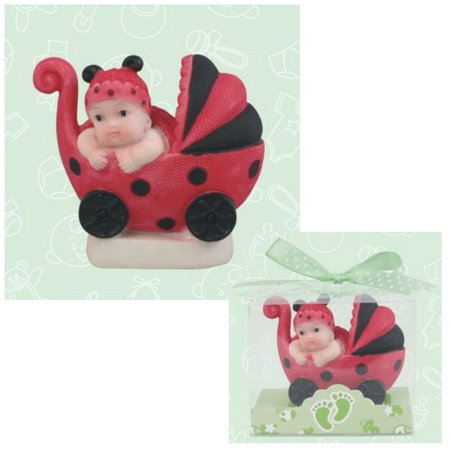 Ladybug Baby Carriage Figurine Party Favor (1 ct)