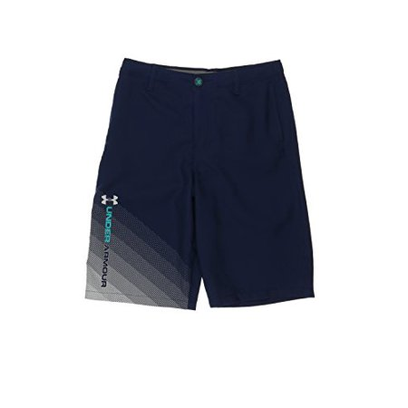 Under Armour Kid's Fade Right Shorts--Black (XS (7 Big Kids) x One Size) (Under Armour Toddler Girls Pants)