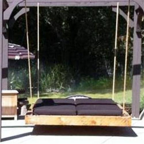 Swing Beds Online NAU-TWN-CYP-NAT 86 inch Un-Finished Nautical Swingbed - Stain