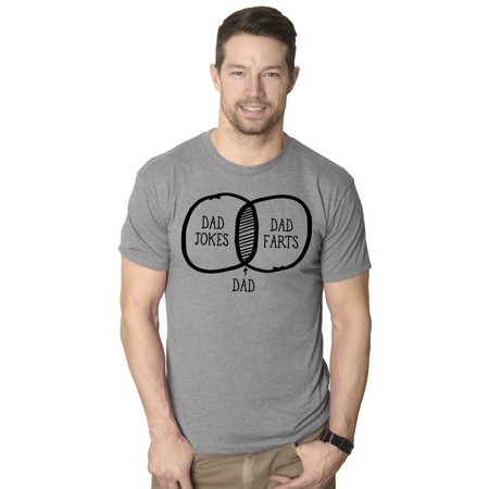 Mens Dad Jokes Dad Farts Funny Math Venn Diagram Fathers Day T