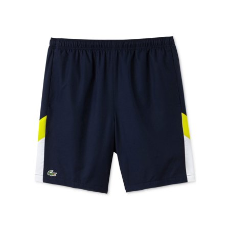 dd48696f8 Lacoste Mens Diamond-Weave Athletic Workout Shorts navyblue XL - image 1 of  1 ...