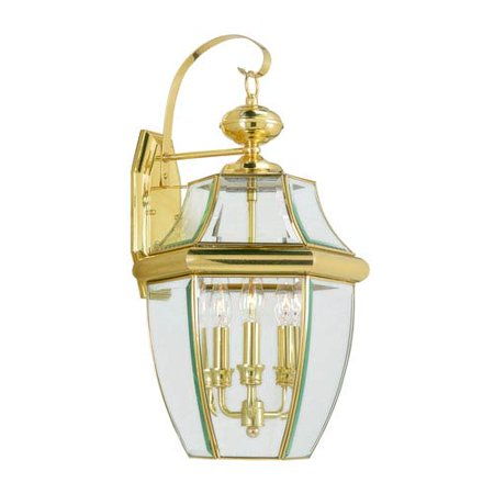 Livex Lighting Monterey 3 Light Outdoor Wall Lantern