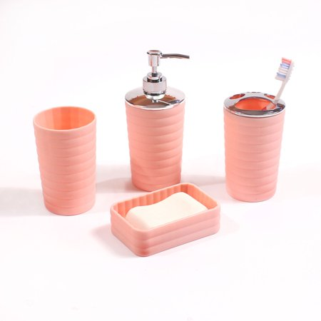 Mainstays Kylie 4 Piece Bath Accessory Set