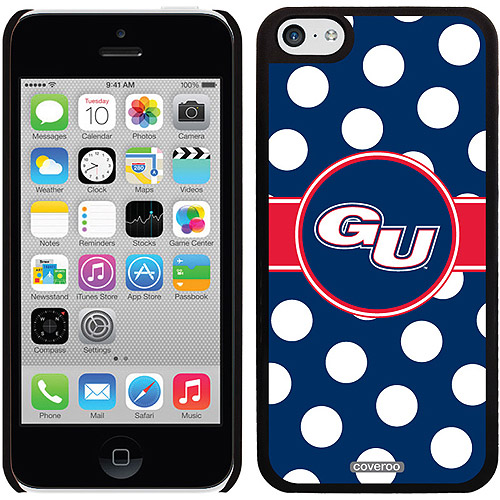 Gonzaga University Polka Dots Design on iPhone 5c Thinshield Snap-On Case by Coveroo