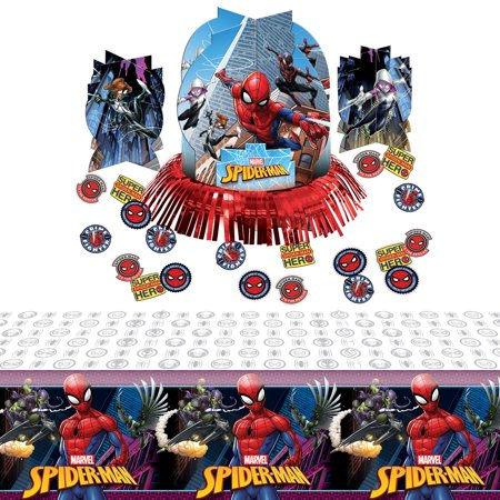 Spiderman Webbed Wonder Table Decoration Kit - Spider Man Decorations
