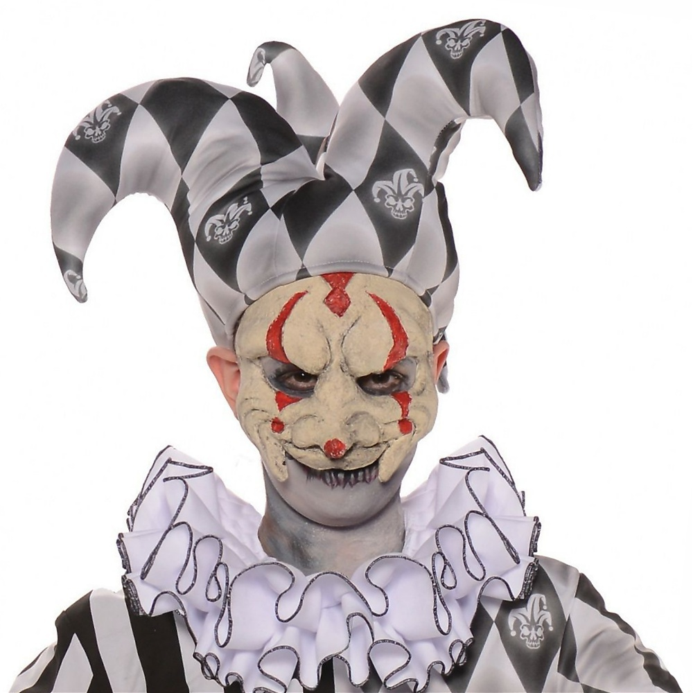 Scary Mask Child Costume Accessory Evil Jester
