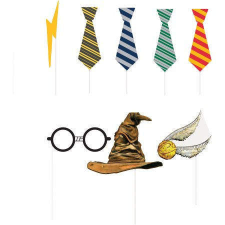 (3 Pack) Harry Potter Photo Booth Props, 8pc - Shark Birthday Supplies