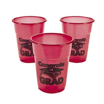 50 Valentines Day Plastic Disposable Cups~Party Supplies~Tableware Oriental Trading Co.