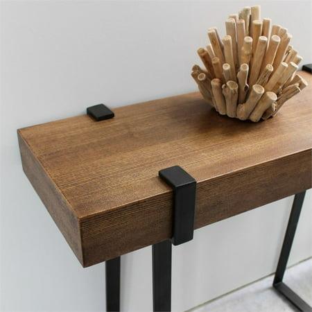 International Caravan Hamburg Wood Console Table in Canyon Oak - image 1 de 4