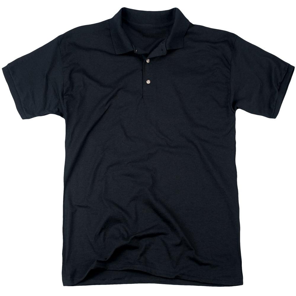 Woodstock White Lake Crowd (Back Print) Mens Polo Shirt BLACK