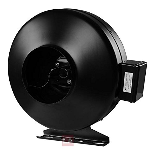 Inline Duct Exhaust Booster Vent Fan Blower: 8 Inch 720 CFM