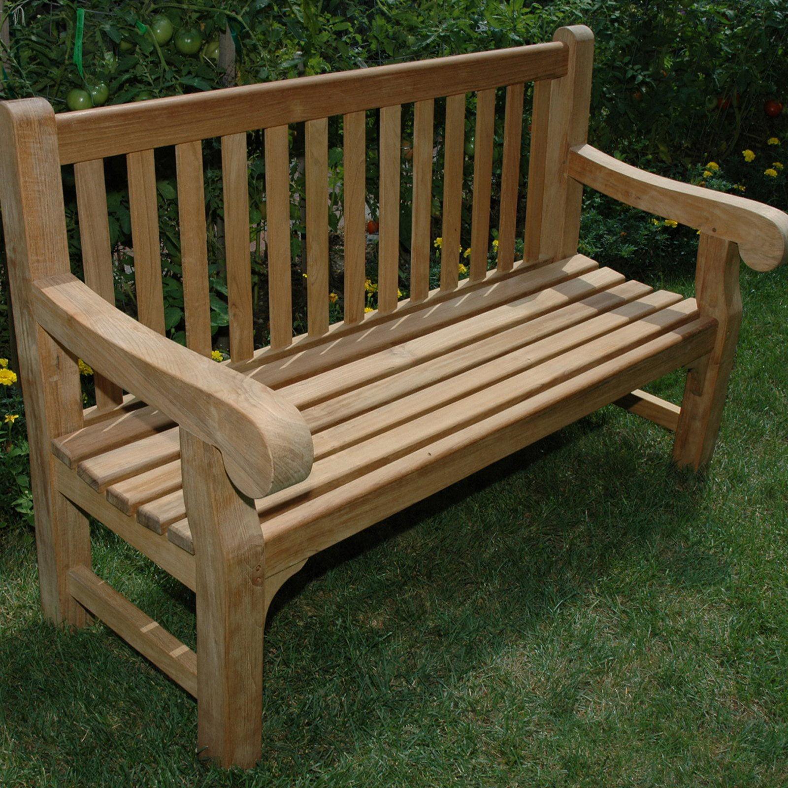 Regal Teak Hyde Park Teak Bench 5 ft. by Regal Teak