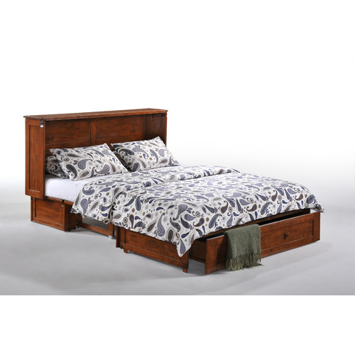 Night & Day Furniture Queen Storage Murphy Bed with Mattress