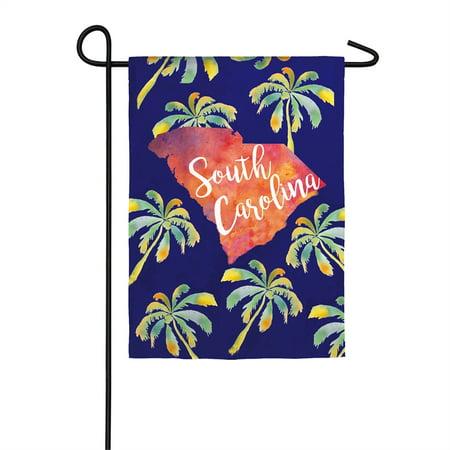 - South Carolina Palmettos Garden Suede Flag