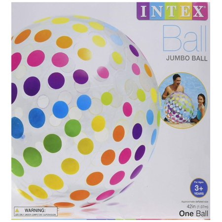 Jumbo Inflatable Big Panel Colorful Giant Beach Ball (Set of 4) | 59065EP, Set of 4 INTEX Jumbo Beach Balls. Oversized for extra fun. By Intex - Giant Inflatable Ball