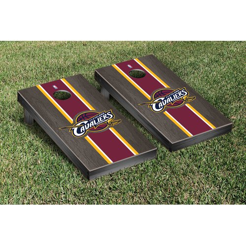 Victory Tailgate NBA Stained Stripe Version Cornhole Game Set