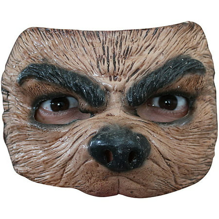 Half Wolf Mask Halloween Accessory