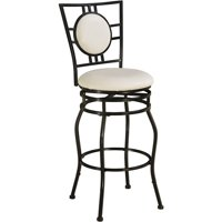 Linon Townsend Adjustable Stool, Black, 24-30 inch Seat Height