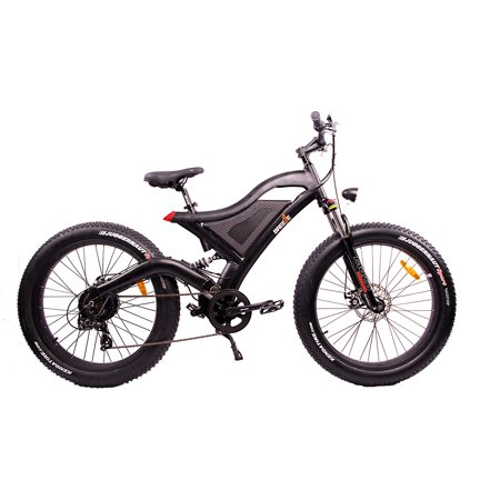 3d5690505b9 BREEZE NINJA 750W, 48V, 11.6Ah Samsung Battery FAT Tire Electric Mountain  Bike 19 Inch, Balck - Walmart.com