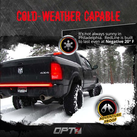 60 redline triple led tailgate light bar w sequential amber turn 60 redline triple led tailgate light bar w sequential amber turn signals 1200 leds brighter solid beam no drill install weatherproof warranty mozeypictures Gallery