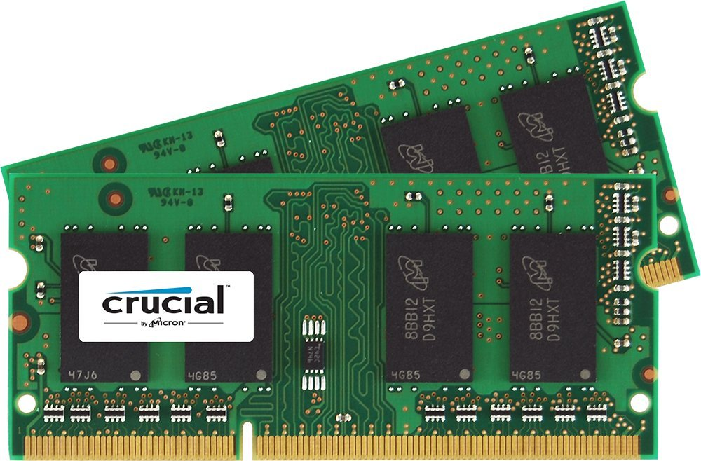 Crucial 32gb Ddr3 Sdram Memory Module - 32 Gb [2 X 16 Gb] - Ddr3 Sdram - 1600 Mhz Ddr3-1600/pc3-12800 - 1.35 V - Non-ecc - Unbuffered - 204-pin - Sodimm (ct2kit204864bf160b)