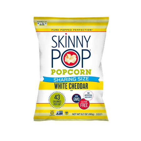 Halloween Popcorn White Chocolate (SkinnyPop Popcorn, White Cheddar, 6.7oz Sharing Size, Gluten-Free Popcorn, Non-GMO, No Artificial Ingredients, Healthy)