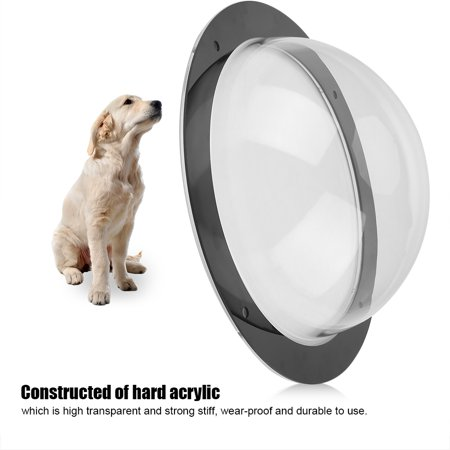 Durable Acrylic Pet Sight Window Dome Insert Fence Clear Outside Landscape Viewer For Cats Dogs, Fence View Window, Acrylic Pet Window](Dog Fence Diy Halloween)
