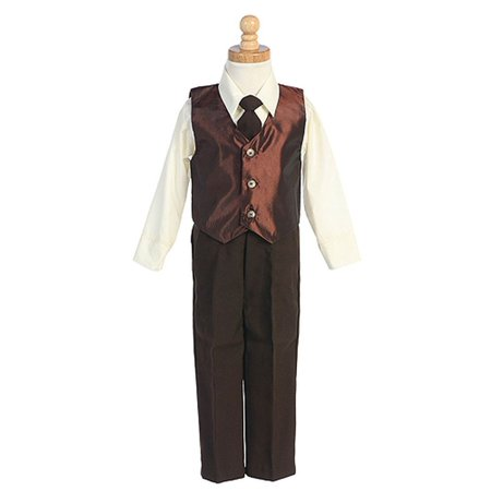 Baby Boys Brown Vest Christmas Special Occasion Suit Set