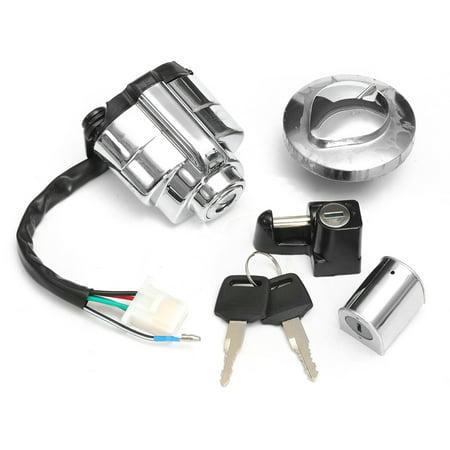 MATCC Aluminum Ignition Gas Cap Helmet Steering Lock Set For Honda Shadow VLX VT 400 600 750 US (Seat Honda Shadow)