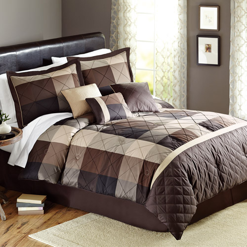 Better Homes and Gardens Elliot Plaid 7-Piece Bedding Comforter Set