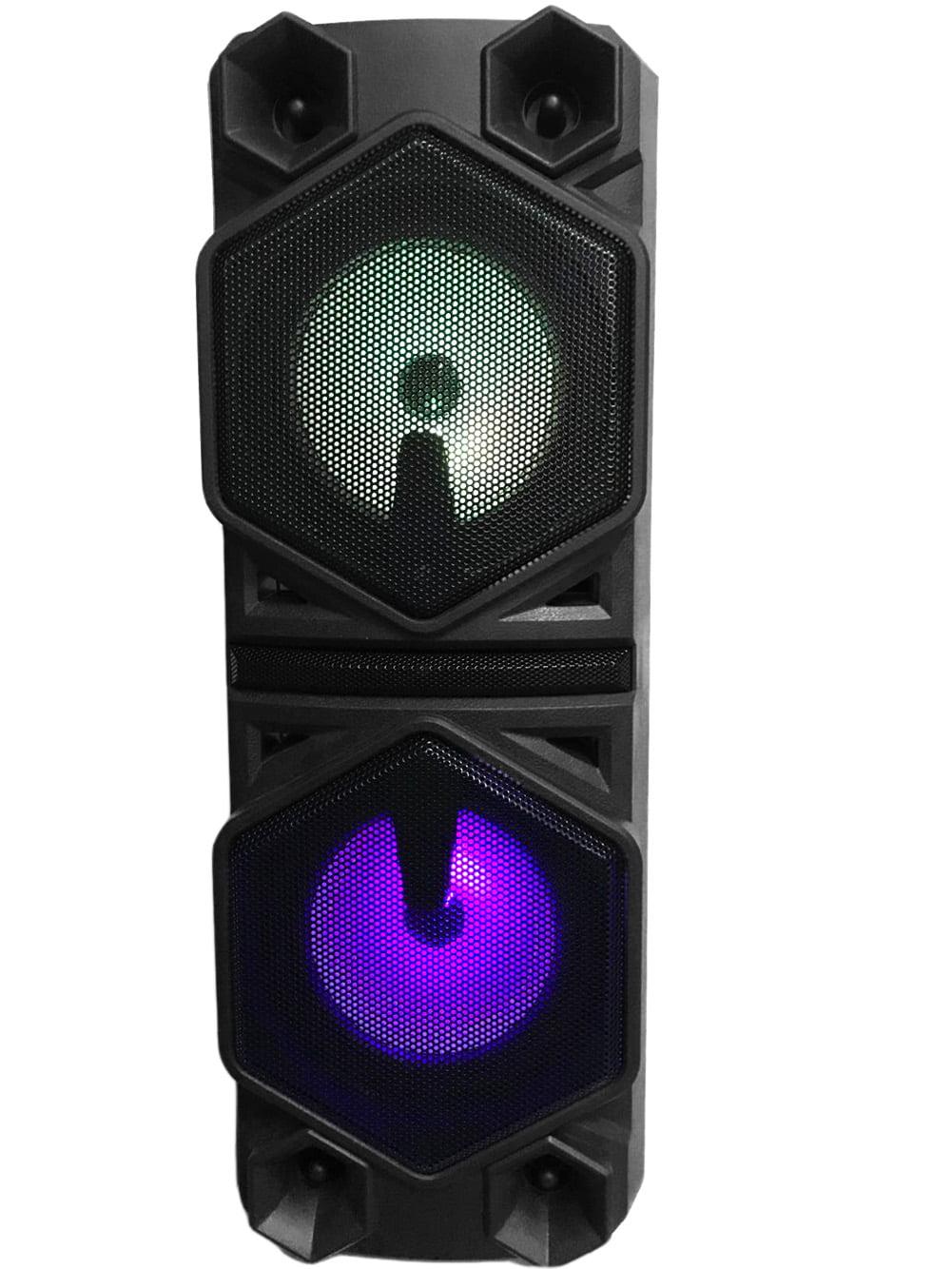 """Ridgeway QS-10 Dual 10.10"""" Party Karaoke BT Speaker with Trolley"""
